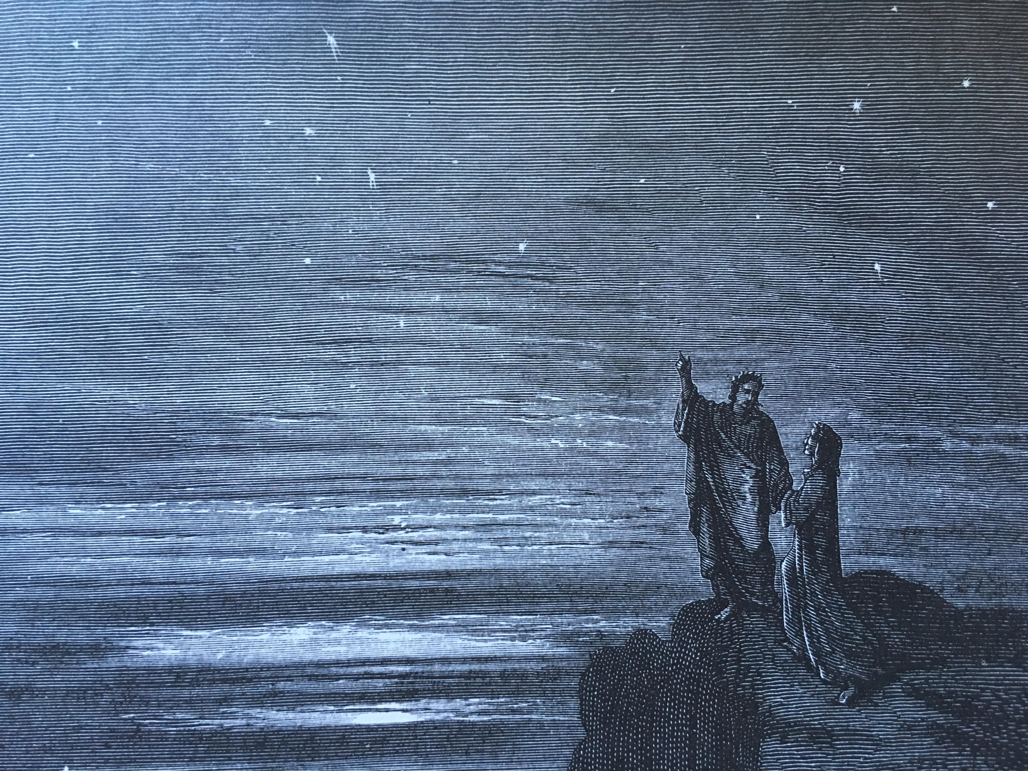 «e quindi uscimo a riveder le stelle», à propos de l'Enfer de Dante
